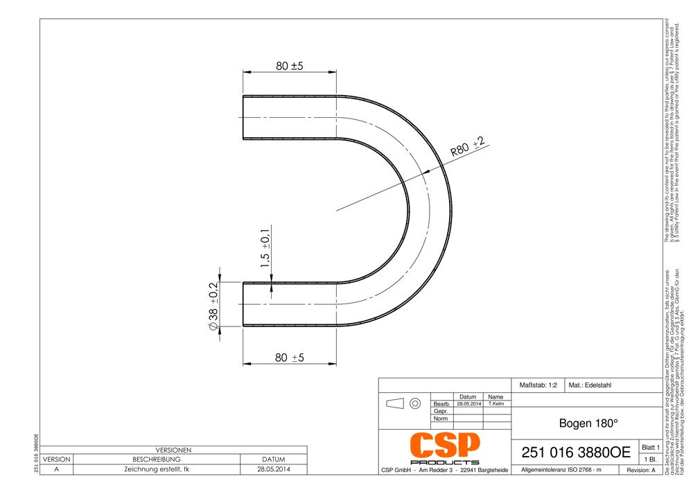 auspuff universal rohrbogen 38mm 180 auswahl zw stahl. Black Bedroom Furniture Sets. Home Design Ideas